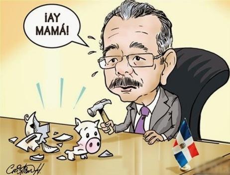 """Danilo_Medina y el déficit fiscal: un """"hoyo fiscal"""" de aproximadamente quinientos mil millones de pesos (RD$500,000.00)"""